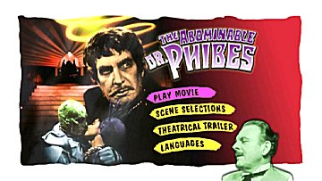 Menu 1 : ABOMINABLE DR. PHIBES