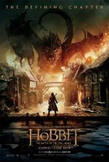 THE HOBBIT : BATTLE OF THE FIVE ARMIES - Comic Con Poster